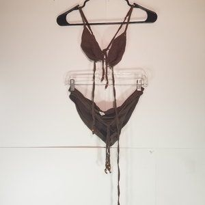 Abercrombie & Fitch Knit Brown Bikini